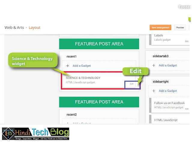 widgets in blogger