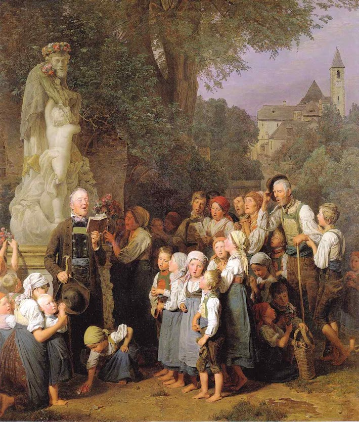 Família venera seu protetor São João Neopomuceno, Ferdinand Georg Waldmüller (1793 – 1865)