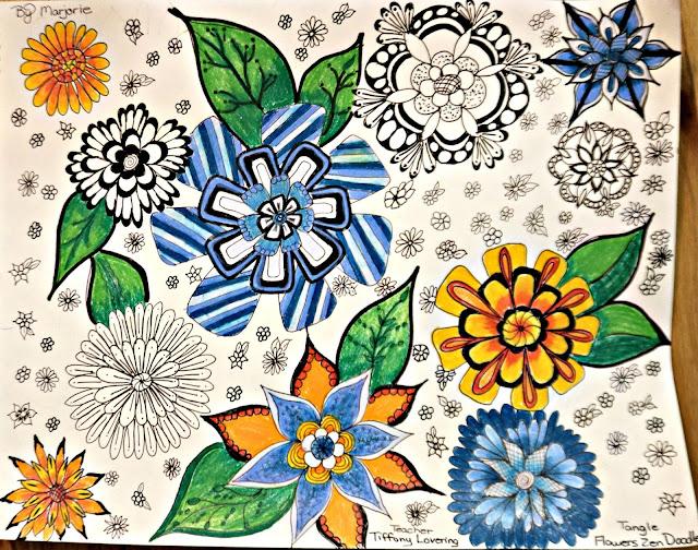 Skillshare course doodle flowers