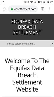equifax data breach website