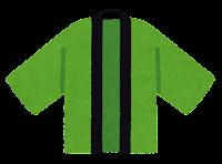 はっぴのイラスト(緑)