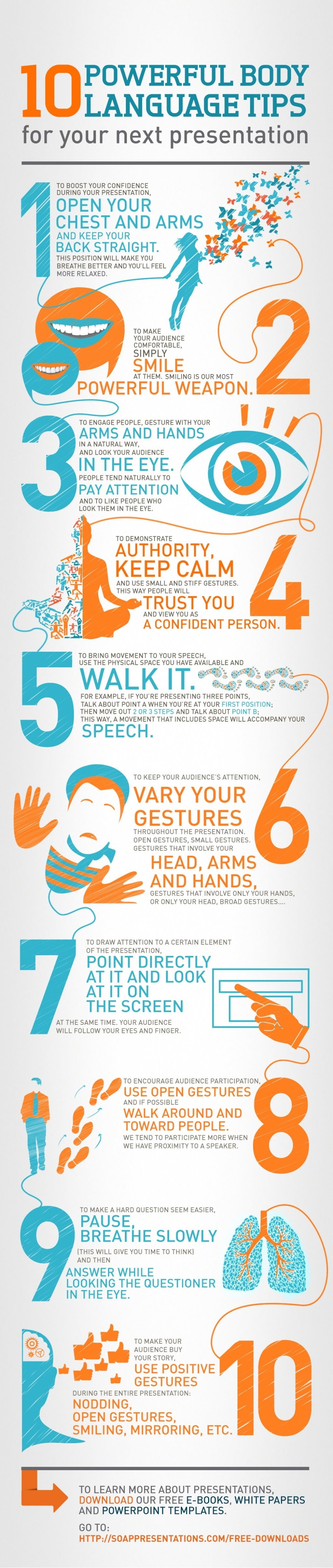 10 Powerful Body Language Tips for your next Presentation - #infographic