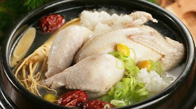 Resep ayam ginseng korea.