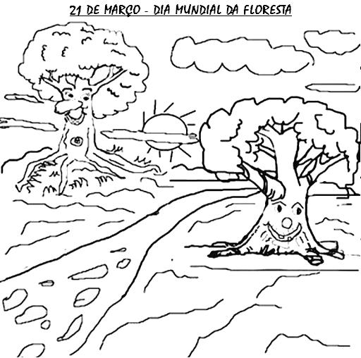 Dia Da Floresta 55 Atividades E Desenhos Para Colorir Pintar