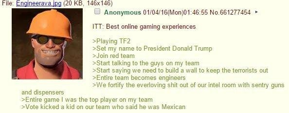 A funny 4chan greentext about griefing on TF2
