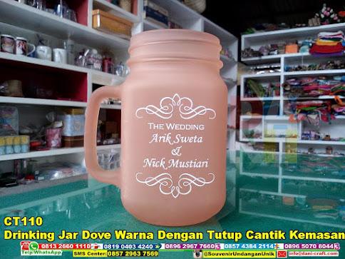 Drinking Jar Dove Warna dengan Tutup Cantik Kemasan Paper Box unik