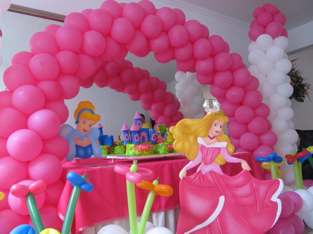 Decoracion fiesta princesa disney aurora la bella - Fiestas infantiles princesas disney ...