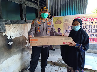Subhanallah Niat Tulus Kapolres Sinjai Berikan Bantuan ke  Panti Asuhan Yayasan Al- Hidayah pasca  Kebakaran
