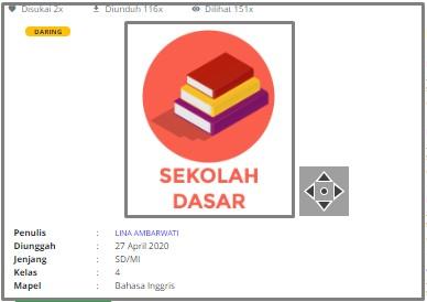 Download RPP Daring Bahasa Inggris Kelas 4 SD