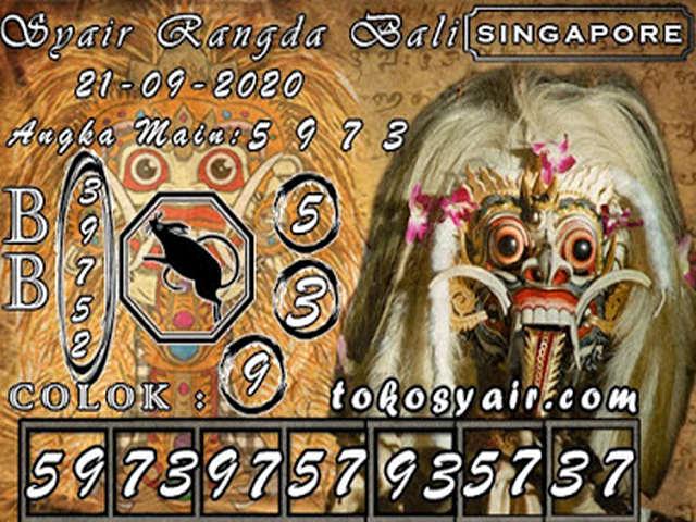 Kode syair Singapore Rabu 21 Oktober 2020 175