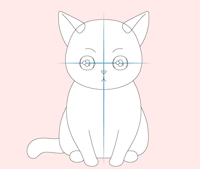 Gambar wajah kucing anime