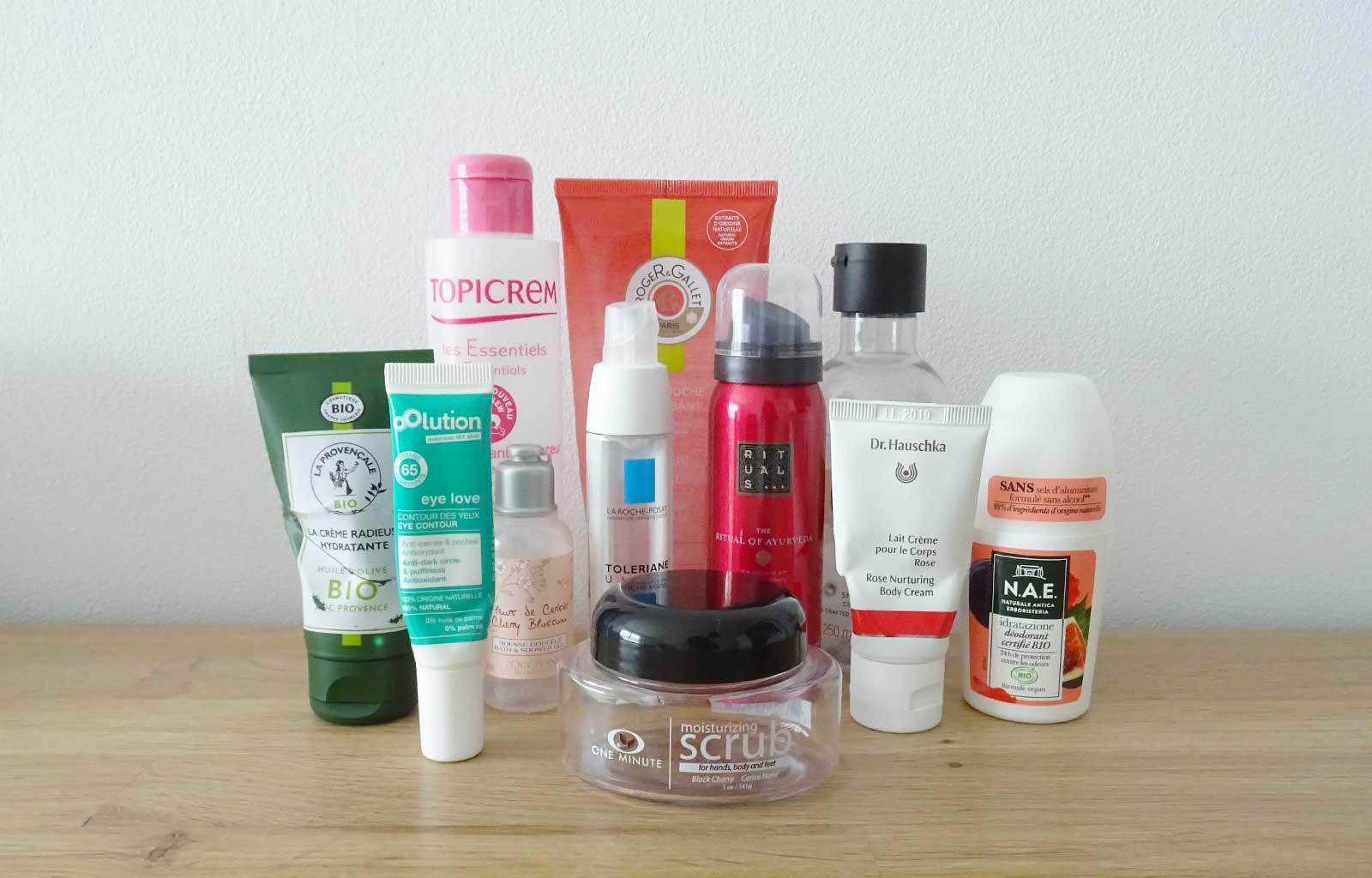 produits terminés soins visage corps hygiène