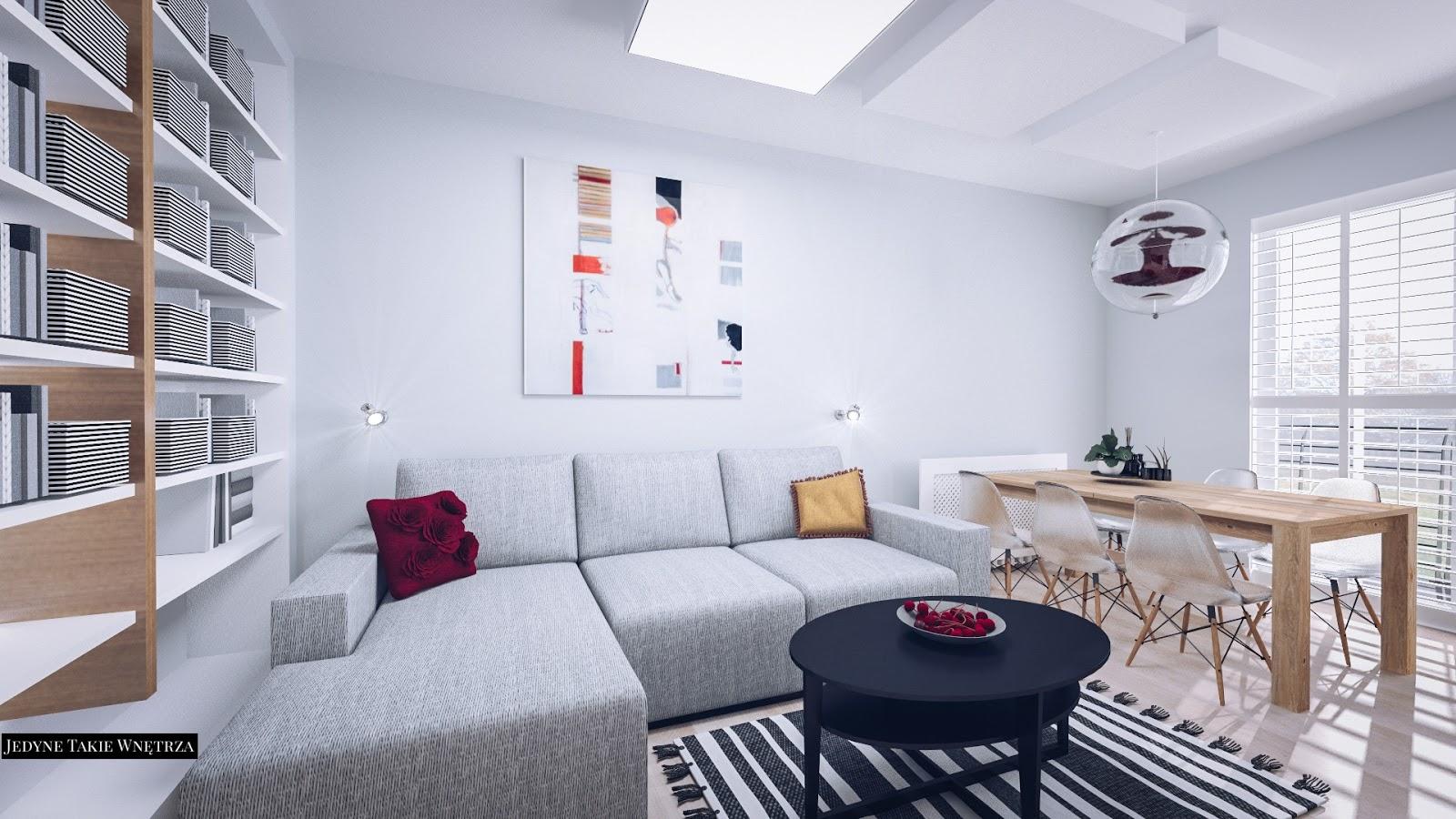 ...ciepło-zimne...aranżacja mieszkania w stylu skandynawskim