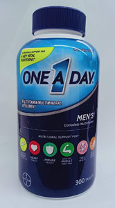 One-A-Day One A Day Men's 50 Plus Multivitamin 300 Tablets.