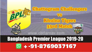 Today Match Prediction Khulna vs Chattogram BPL T20 33rd Match 100% Sure
