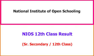 NIOS 12th Class Exam Results