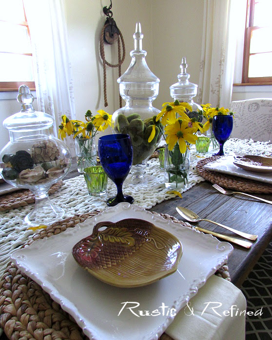 Blue and Yellow Tablescape for Summer