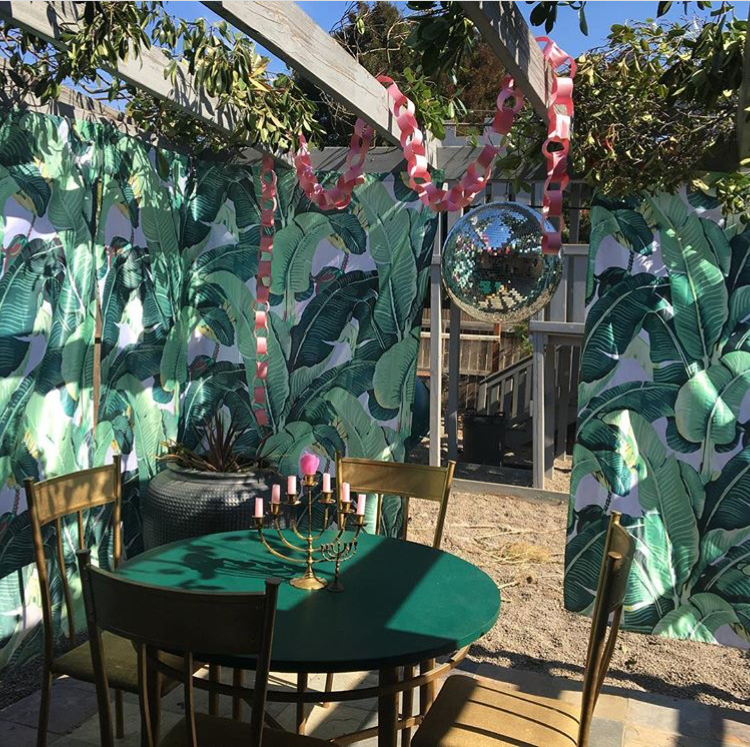 Funky palm and disco ball sukkah | Land of Honey