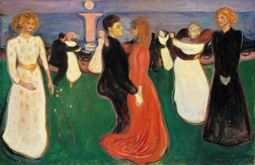 #PraCegoVer: A Dança da Vida, pintura de Edvard Munch.