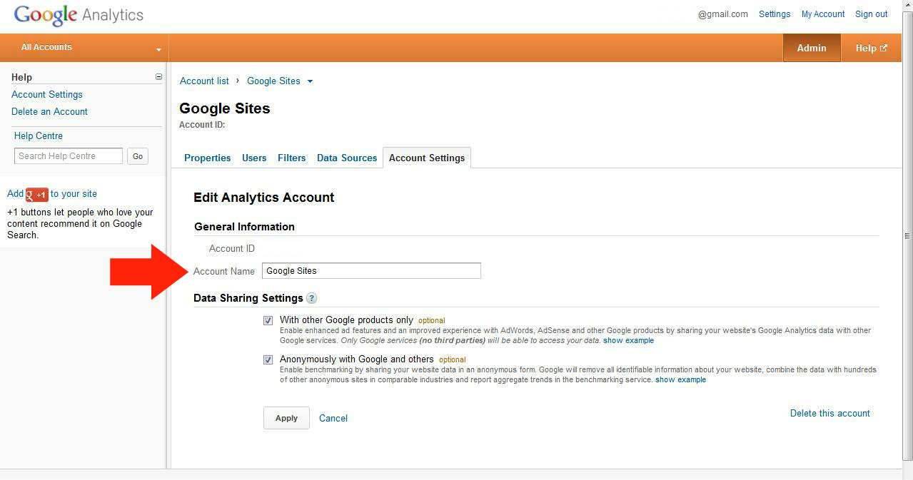 How to change 'Account list' name in Google Analytics?   Minority Report