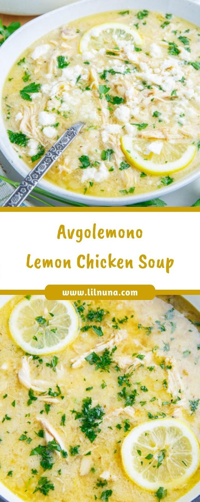 Avgolemono Lemon Chicken Soup