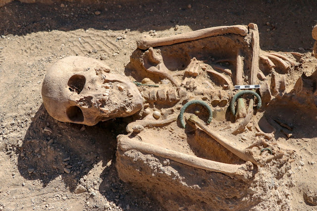 Grave of Urartian woman buried with jewellery unearthed in eastern Turkey