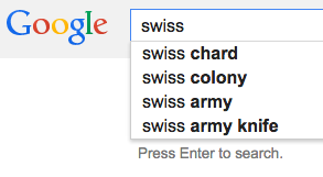 Personalized Google Suggestions