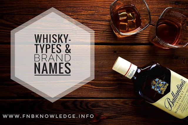 Whisky – types and brand names