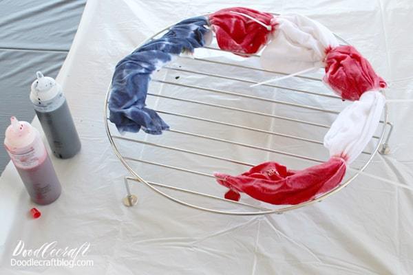 Independence day flag tie dye shirt diy