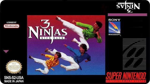 3 Ninjas Kick Back - SNES Portada