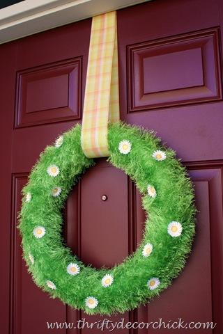 green grass spring wreath