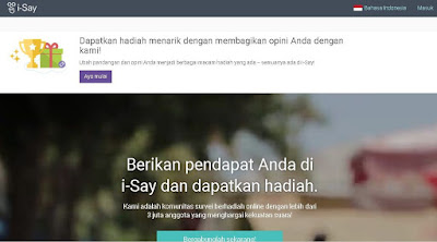 Survey Online i-Say Indonesia | SurveiDibayar.com