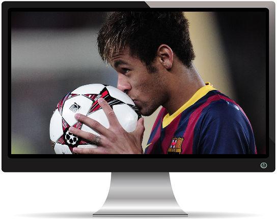 Neymar Embrasse le Ballon - Fond d'écran en Full HD 1080p