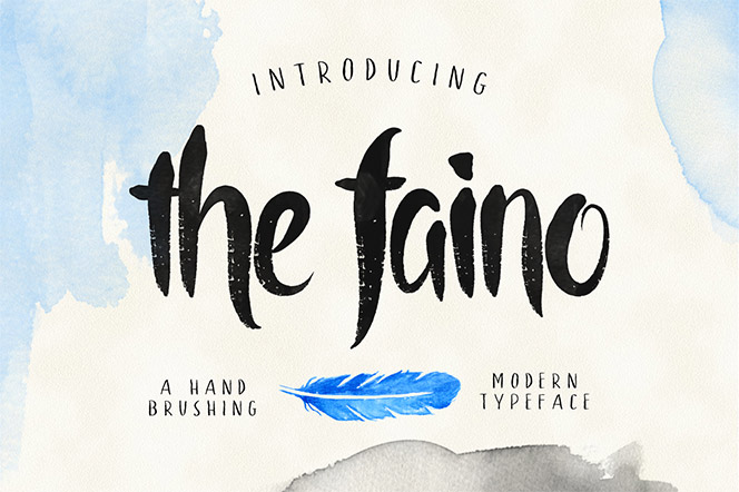the faino typeface - alit_design