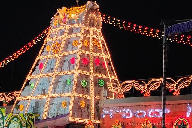 Serial bulbs decorations of Gods in Aadi month Tamil nadu andhra