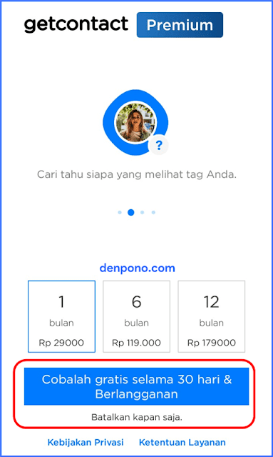 Penawaran GetContact Premium