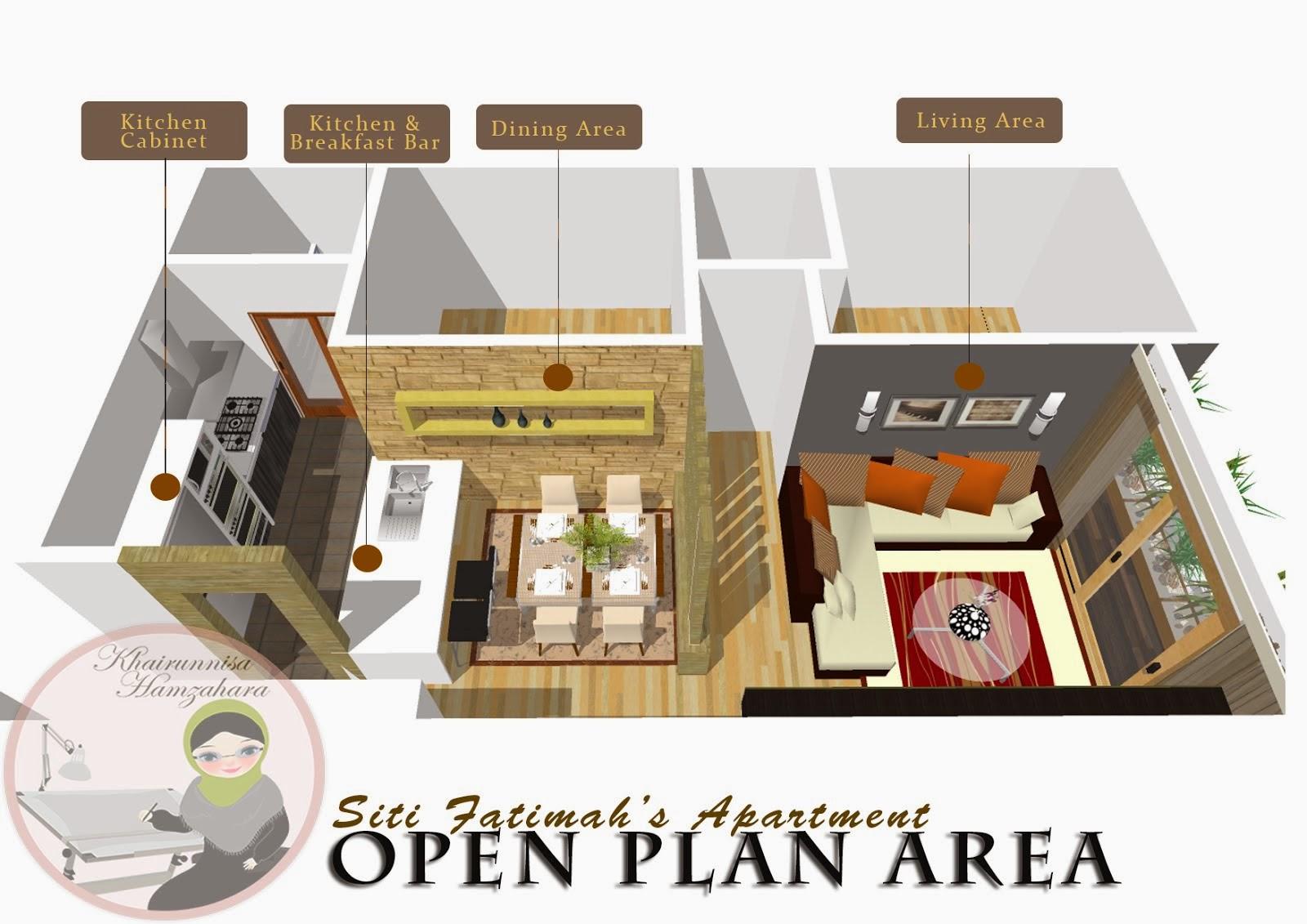 Rekabentuk Hiasan Dalaman Ruang Terbuka Rumah Apartment
