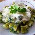 Receita de nhoque de batata doce e espinafre com molho branco light