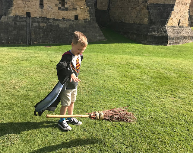 J broomstick training at alnwick castle