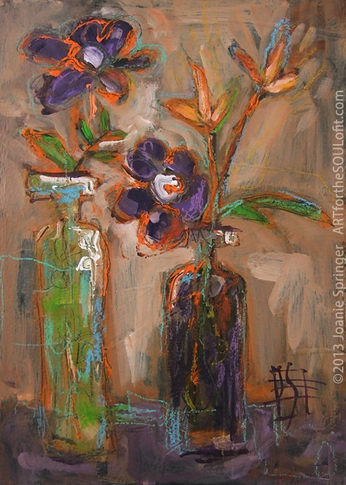 A Secondary Tale floral painting by Joanie Springer
