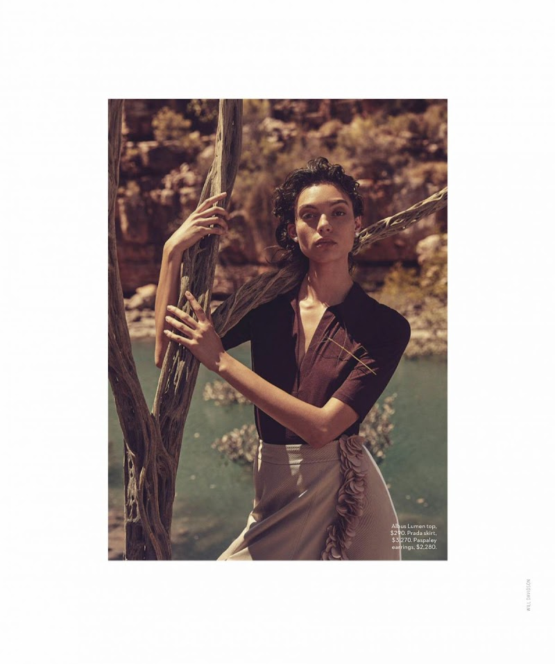 Charlee Fraser Featured in Vogue Magazine - Australia February 2020