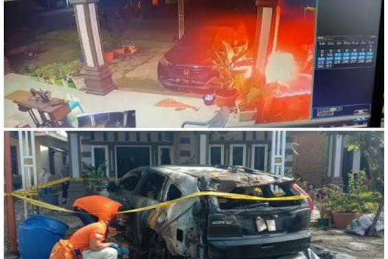 Mobil Anggota DPRD Tapteng Dibakar, Pelaku Terekam CCTV