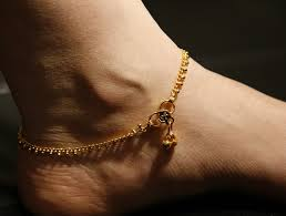 simple silver anklets in Brazil