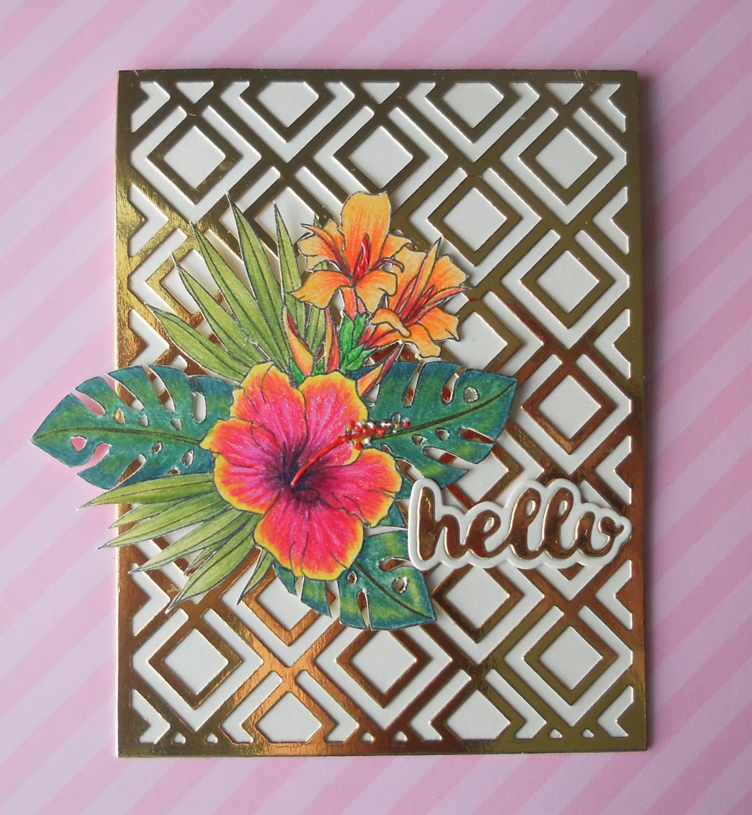 Seven Hills Crafts Blog Hibiscus And Trellis