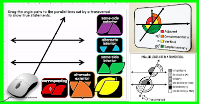 In this post I want to share with you two free movable posters for teaching angle pairs that are in my tpt store. You can use these posters if teaching from home or even when we are back in our brick and mortar schools with students.   Both of these movable posters are Google Slides resources that can be shared with students. You can also use the Google Slides to teach your lessons while using Screencastify, Zoom, Google Meet or any other way you have been using to reach students learning math at home.