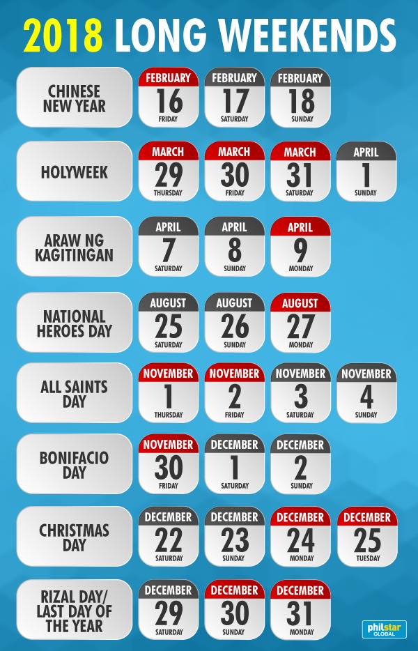 list of 2018 holidays in the philippines deped tambayan ph
