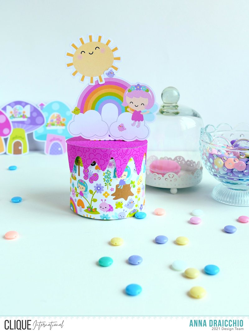 Clique International: Scatolina torta - Paper birthday cake box - Doodlebug Designs – VIDEO