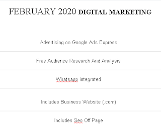 DIGITAL MARKETING - FEBRUARY 2020