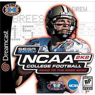 NCAA College Football 2K2 Dreamcast cover art