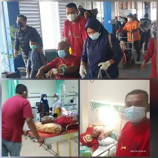 Peduli Kesehatan,Korbit Melayu Raya(MR) kabupaten Lingga  Dampingi pasien Rujuk ke RSUD Propensi Kepri